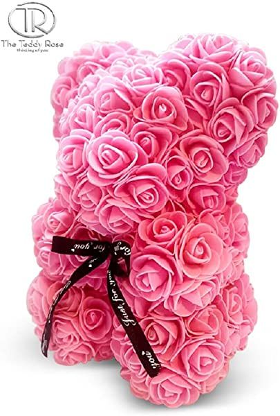 The 10 Pink Rose Hand Made Teddy Bear Artificial Forever Best Gift Graduation Gift Flowers For Valentine S Day Mother S Day Graduation Christmas Anniversaries Birthdays Weddings