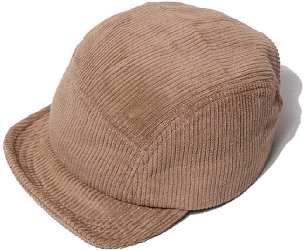 Croogo Corduroy Trucker Hat Unisex 5 Panel Baseball Cap Soft Short Brim Running Cap Low Profile Retro Dad Hat