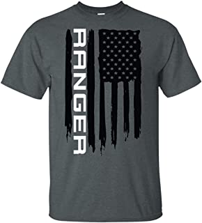 Wheel Spin Addict Men's Ranger Truck XLT XL American Flag T-Shirt