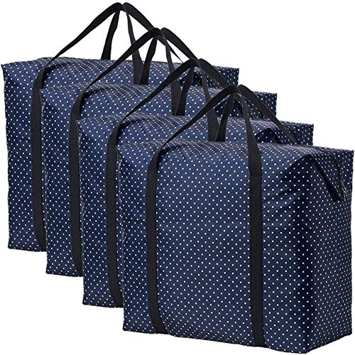 LKJHG Portable Finishing Bag Baggage Packing Bag Quilt Clothing Storage Fold Dust Bag (Color : 4 Pcs, Size : 46x35x18cm)(Size:78 * 50 * 36CM,Color:3 pcs)