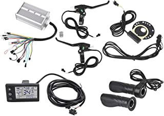 Dilwe Brushless Motor Speed Controller, Sensitive Brushless Motor Controller LCD Panel Kit for E-Bike Electric Bicycle 36V/48V 1500W