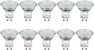 LE Bombillas LED GU10 4W, Lámpara LED GU10 Equivalente 50W Halógena 350 lumen Blanco Frío 5000k, Ángulo de haz de 120°, Paquete de 10