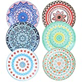 Farielyn-X 6 Pack Porcelain Dinner Plates - 10.5 Inch Diameter - Pizza Pasta Serving Plate...