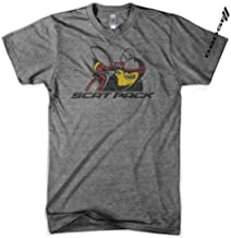 Detroit Shirt Company Men's Dodge Scat Pack Triblend T-Shirt, Made in Detroit