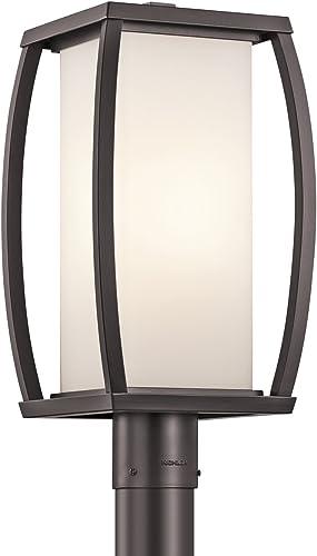 popular Kichler discount 49342AZ Bowen online Outdoor Post Mount 1-Light, Architectural Bronze sale