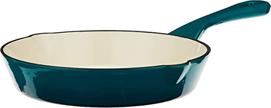 Crock-Pot 111976.01 Artisan 8 Inch Enameled Cast Iron Round Skillet, Teal Ombre