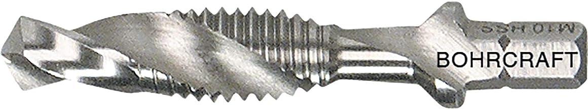 """Bohrcraft 41710300600 Maschinen-Kombi-Gewindebohrer HSS G M6 Split Point 1/4"""" 6-Kant Schaft, silber"""