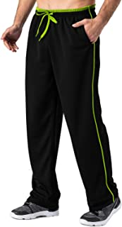 Men's Lightweight Sweatpant Loose Fit Quick Dry Breathable Running Joggers with Zipper Pockets