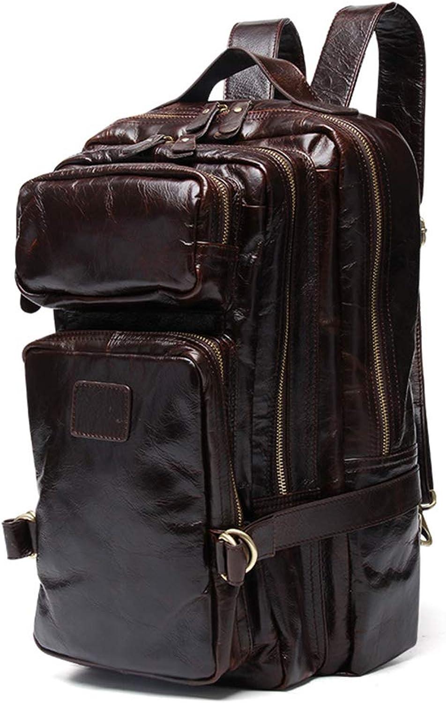 HWX Neue Fashion Men ' S Rucksack Messenger Bag Multi-Function Leather Bagpack geeignet für Reise-Geschäft und Freizeit,braun,40cm25cm10CM B07MBT27RG  ein guter Ruf in der Welt