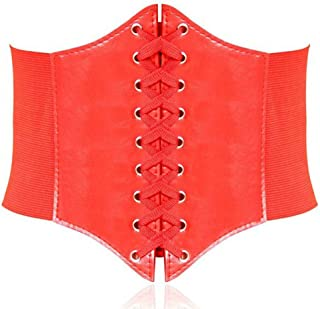 effe3701faa Hanerdun Lace-up Corset Elastic Retro Cinch Belt Waist Belt Four Sizes