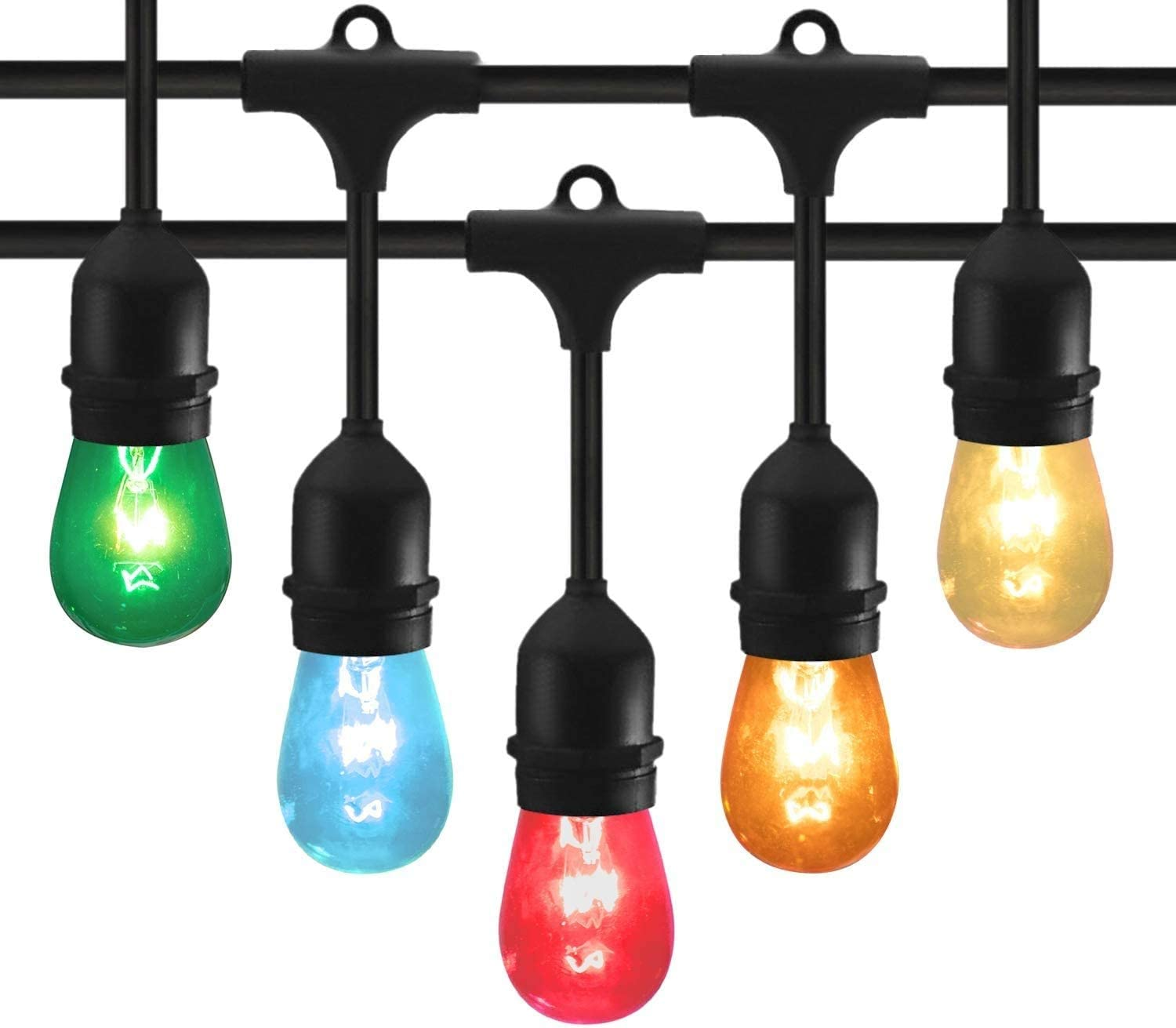 48 Feet Outdoor Today's only String Lights with and Ed Hanging Sockets 15 S14 Online limited product