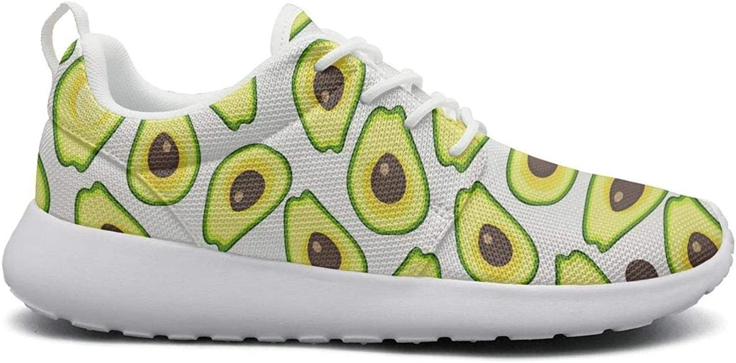 FEWW11 Women Cool Lightweight shoes Sneakers Avocados Food Canvas Upper Gym Lace-Up