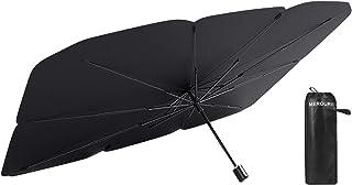 MEROURII Auto Sonnenschirm für Frontscheibe,Faltbarer Frontscheibe UV Schutz Regenschirm Sonnenschirm Universal,142 * 79cm,für die meisten Autos, SUVs und LKWs