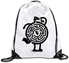 FOODE Amazin Cat The Maze Trapped The Mouse Drawstring Backpack Sack Bag