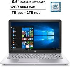 2019 HP Pavilion 15.6 Inch FHD Laptop (8th Gen Intel Quad Core i7-8550U up to 4.0GHz, 32GB DDR4 RAM, 1TB SSD (Boot) + 2TB HDD, NVIDIA GeForce 940MX 4GB, Backlit Keyboard, Bluetooth, Windows 10)