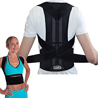 """Breathable Back Support and Lumbar Lower Back Brace Provides Back Pain Relief - Keep Your Spine Safe and Adjustable Belt (M:Waist Length fits 31.4-37.4"""", Black)"""