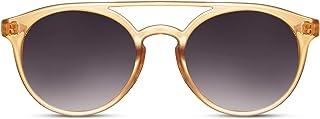 Cheapass Lunettes de soleil Rondes à Double Pont et Haut Plat Vintage Rétro Protection UV400 pour Femmes