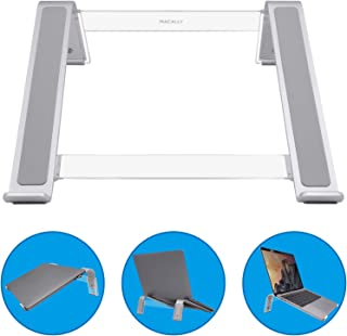Macally Adjustable Laptop Stand for Desk - Ventilated Notebook Riser w/ 3 Angle Adjustments for Apple MacBook Pro/Air, Samsung Chromebook, Acer Switch, HP Pavillion, Dell XPS, Up to 17.3