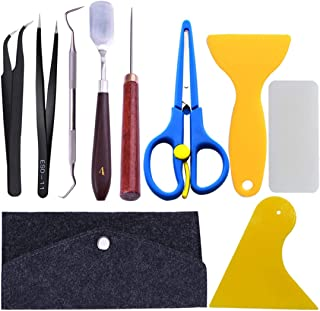 10 Pieces Craft Vinyl Weeding Tools Stainless Steel Precision Craft Basic Set Craft Vinyl Tools for Weeding Vinyl, HTV, Lettering