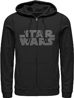 Star Wars Men's Simple Logo Zip Up Hoodie