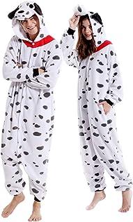 Disfraz de animal dálmata, disfraz de adulto para cosplay, pijama para mujeres y hombres