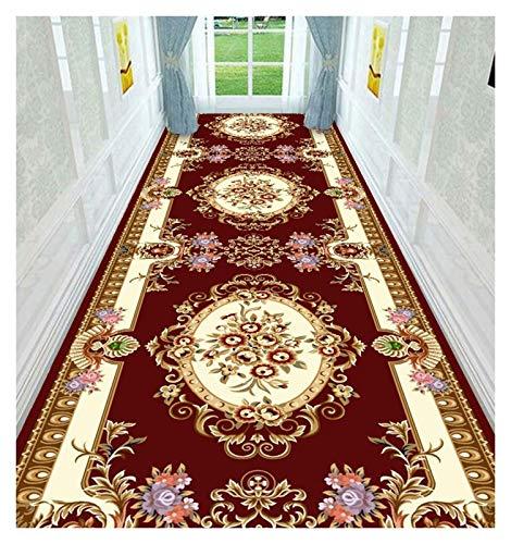 ditan XIAWU Zuhause Langer Teppich Schlafzimmer Wohnzimmer Kann Geschnitten Werden rutschfest Gang (Color : A, Size : 90x600cm)