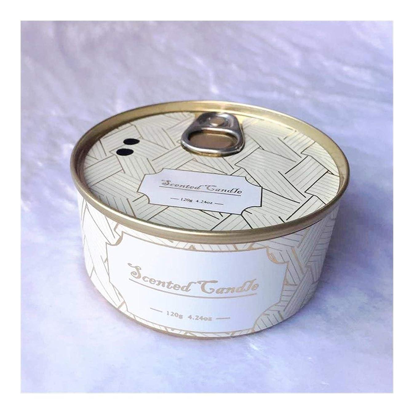 暖かさ逮捕真向こうGuomao ブリキ缶植物エッセンシャルオイル大豆ワックスジュニパーラベンダーの香りのキャンドル (色 : Lavender)