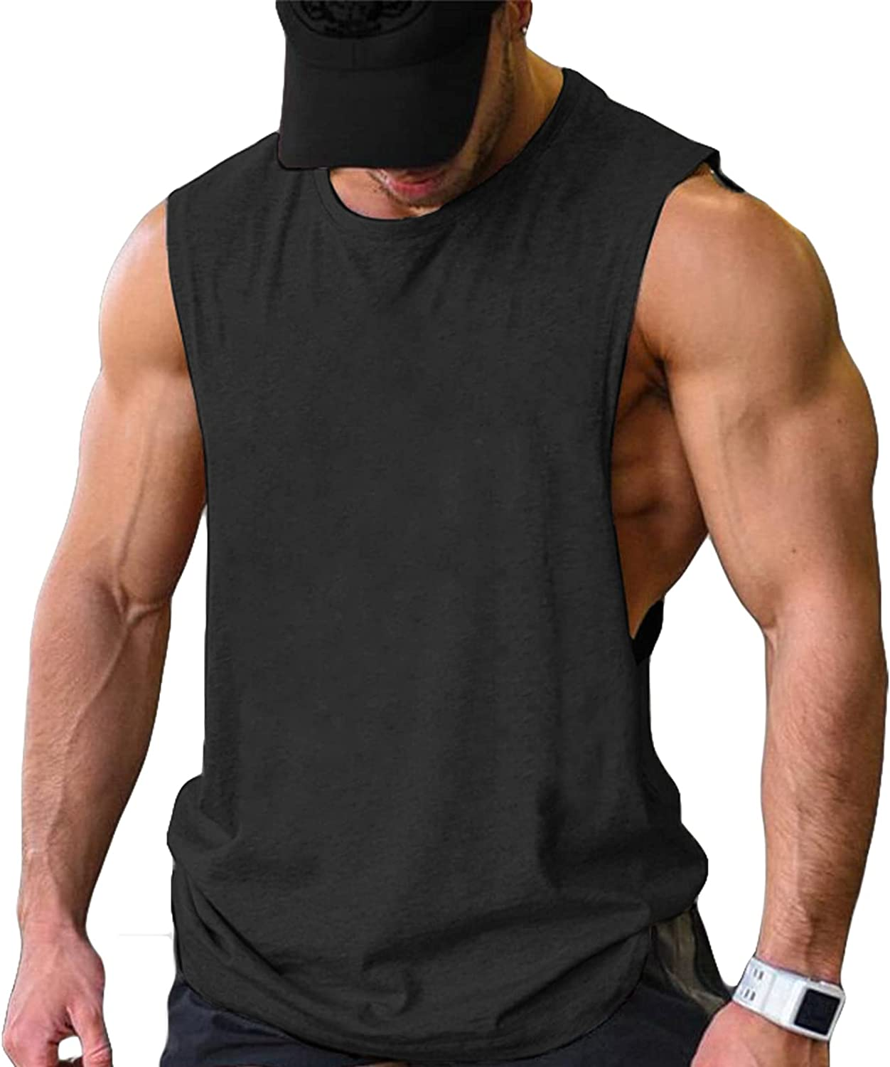 COOFANDY Men Workout Tank Top 2 Pack Gym Bodybuilding Sleeveless Muscle T Shirts