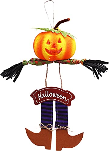 high quality RiamxwR Pumpkin Scarecrow Welcome Sign sale popular Hanging Scarecrow Ornament Halloween Thanksgiving Autumn Harvest Decoration for Party Home Garden (Style B) online