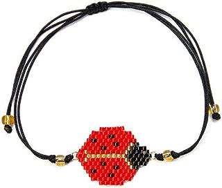 DjYoYo Miyuki Ladybug Bracelet Insect Bracelets for Women 2019 Child Jewelry Friendship