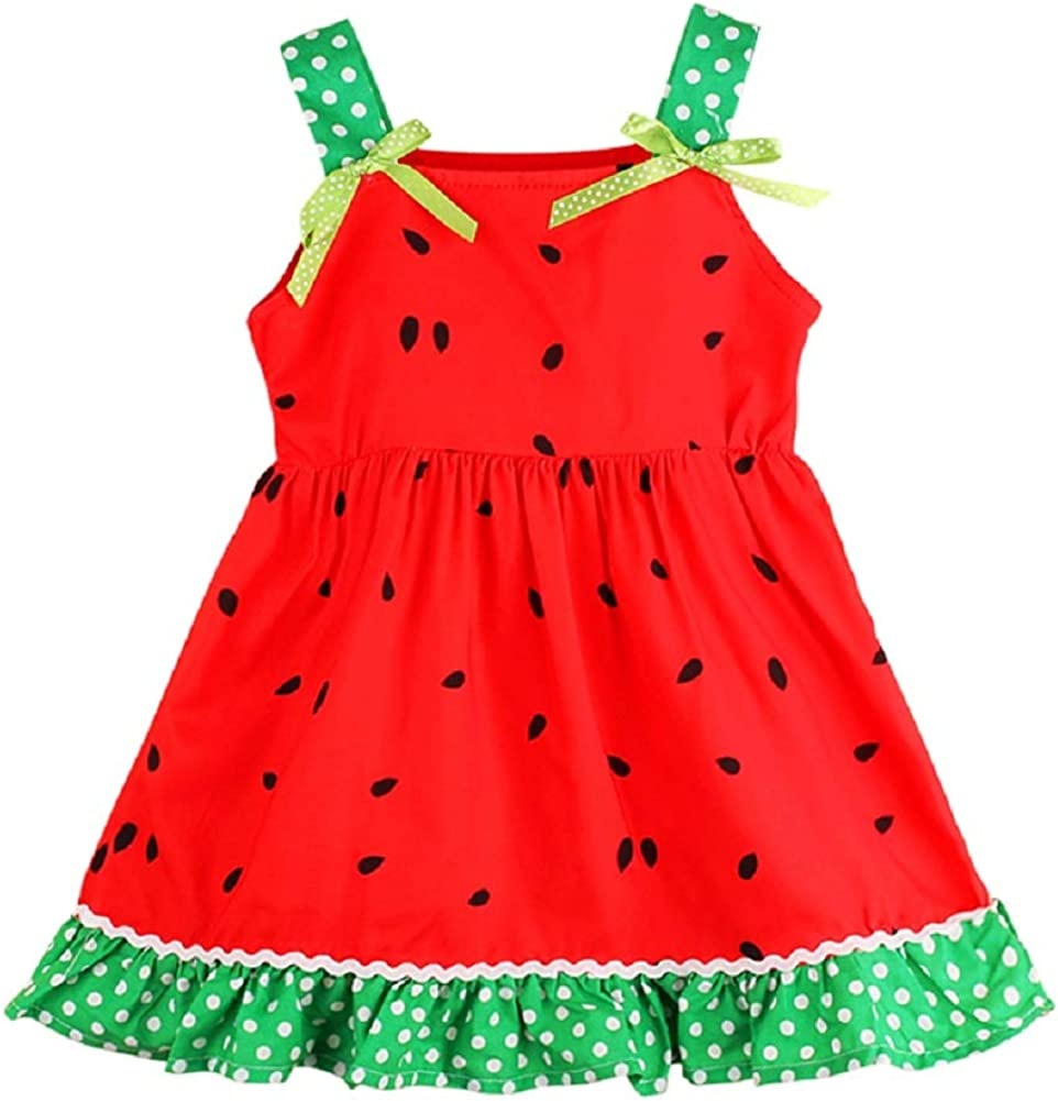 YDuoDuo 1-6T Boston Mall Baby Toddler Girl Watermelon Opening large release sale Outfits Summer Dresses