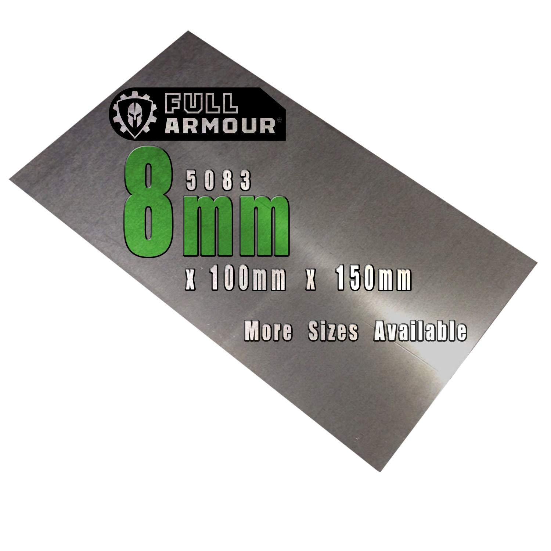 Placa de aluminio de 8mm (5083)., 150mm x 100mm, 1