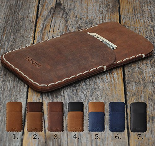 True leather case for Microsoft Surface Duo, personalized cover