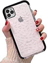 Superyong for iPhone 11 Pro MAX Case+Screen Protectors,Crystal Clear Slim Diamond Pattern Soft TPU Anti-Scratch Shockproof Protective Cover for Women Girls Men Boys for iPhone 11 Pro MAX 6.5-Black