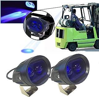 20W Led Forklift Safety Light Motorcycle Light 4D Lens Led Truck Lights Heavy Duty LED Work Light Blue(Pack of 2)