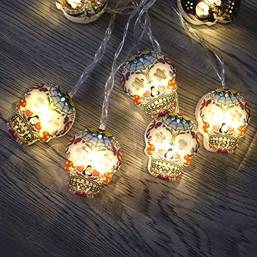 Household LED Lights String Halloween Decoration Lights String Skull Shape 30 LED Lights