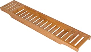 "Bamboo Large 28.7"" Long Slatted Bathtub Tray - By Trademark Innovations"