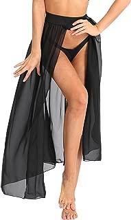 Alvivi Women's Sexy Sheer Mesh High Waist Tie Waist Split Long Maxi Skirt Beach Cover Up Skirts