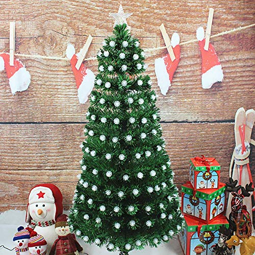 LIUSHI PVC Pre-Lit Detachable Christmas Tree, Holiday Decoration 4Ft Artificial Christmas Tree with Solid Metal Legs Office Shops Christmas Pine Tree-Green 120cm(47inch)