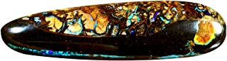 11.15 ct AIG CERTIFICADO FANCY CUT (32 x 9 mm) Ópalo AUSTRALIAN KOROIT BOULDER NATURAL PÓpalo de piedra suelta