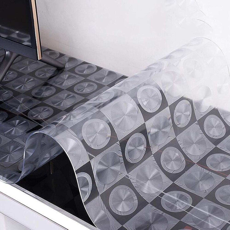 ZHAS Prougeecteur de Vinyle de Version épaisse en Cristal de Bureau de PVC de Rectangle de Bureau imperméable de ménage de nappes de Table utilisé pour la Chaleur de Prougeection de Tapis de Table (c