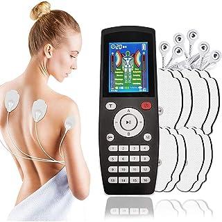 LYHD Electroestimulador Digital Portatil, Estimulador Muscular USB Recargable Masajeador Electro para el Cervical Piernas Abdominal Espalda Cuello,Negro