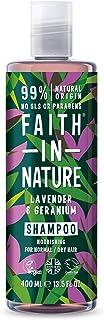 Faith in Nature Champú Natural de Lavanda y Geranio Nutritivo Vegano y No Testado en Animales sin Parabenos ni SLS par...