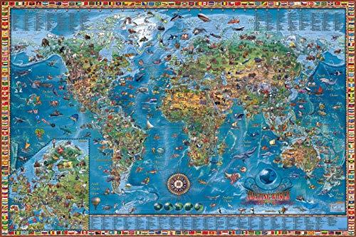 HongTeng-Puzzles 2000 Stücke der Welt Retro Map Puzzle für Erwachsene 1000 Kinder Pädagogische Spielzeug Geschenke (Color : C, Size : 2000 pcs)