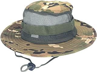 Ridkodg Australian Western Style Cowboy Hats - Adjustable Cap Camouflage Print Fisherman Hat