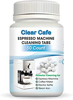 Espresso Machine Cleaning Tablets - Coffee Maker Cleaning Tablets - 50 Count - Compatible with Breville - Jura - Miele - Keurig - Krups - and More