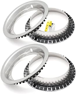 OxGord Trim Rings for Chevy GM (Pack of 4) 15 Inch Wheel Hub Chrome Beauty Ring Covers