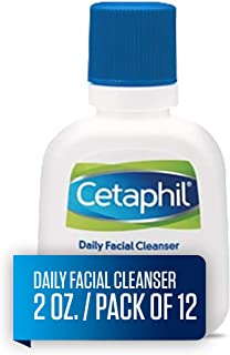 Cetaphil Face Wash Daily Face Cleanser for Normal to Oily Skin, 2 Ounce (Pack of 12)