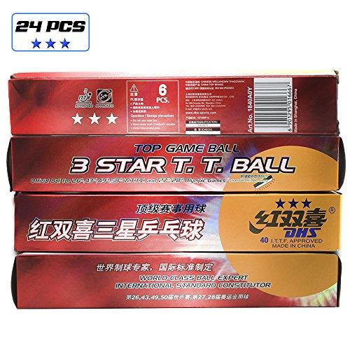 DHS - Pelotas de ping-pong de 3 estrellas