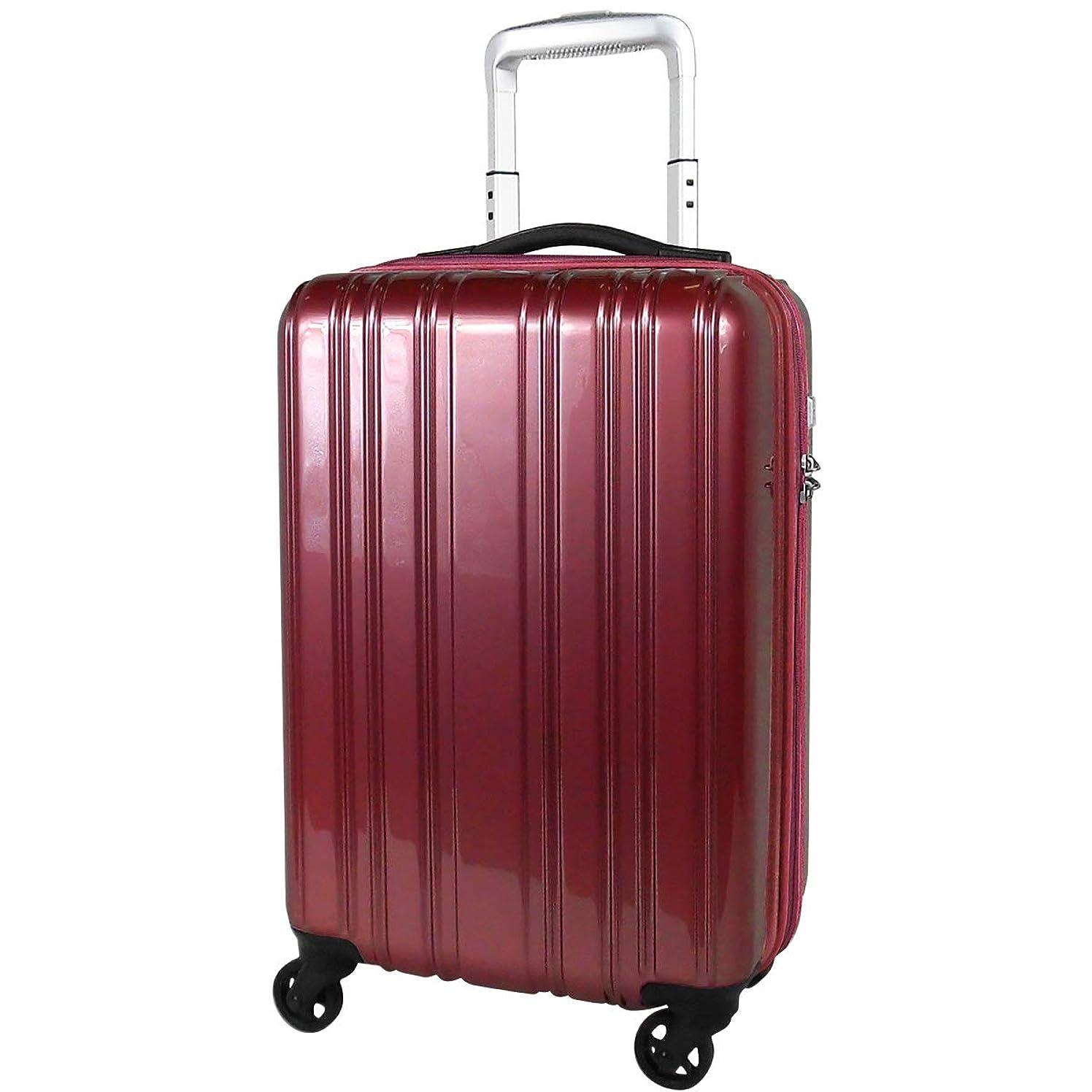 改善の前でエンコミウムスーツケース 超軽量 1.9kg 機内持込 小型 LCC コインロッカー 静かなキャスター TSAロック ポリカボネート 1?3泊 32L Sサイズ SiiiN+Light シーンプラスライト